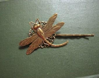 dragonfly bobby pin, hair clip, dragonfly hair pin, insect, minimalist hair pin, insect bobby pin, bug hair clip, bobby pin, nature