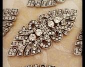 50% OFF Art deco rhinestone brooch crystal brooch , wedding brooch, bridal shoe-clips, art deco brooch