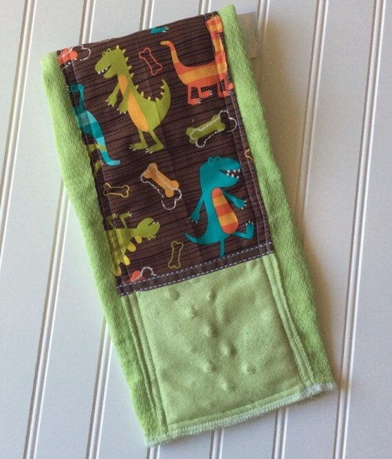 Baby-Burp-Cloth-Boy-Boys-Dino-Dude-Dinosaurs-Green-Mnky Dot-Designer-Diaper-6 Ply-Shower-Nursery-Decor-Newborn-Holiday-Personalized-Gifts