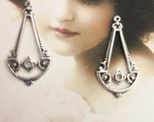 Sterling Silver Ox Plated Brass Ornamental Dangles 575SOX x2
