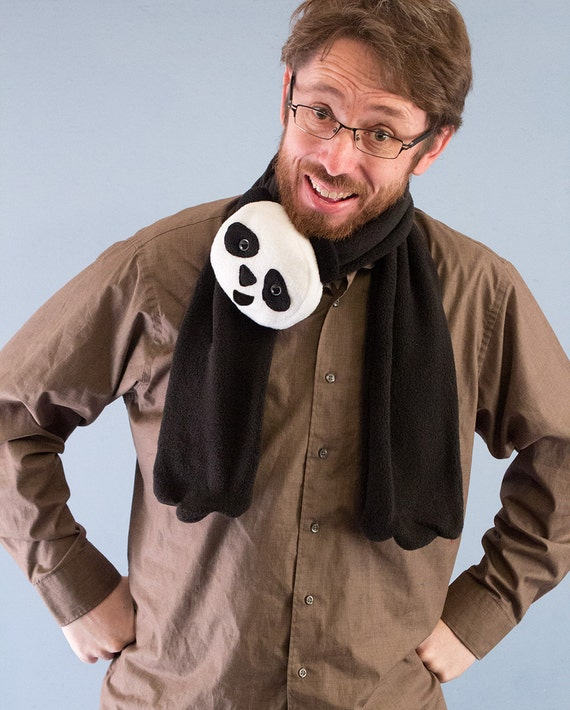 Fleece Panda Scarf