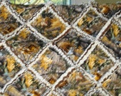 Brown Realtree Camouflage Rag Quilt with Brown and Beige Minky Baby Rag Quilt/ Baby Quilt/ Patchwork Quilt