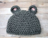 Halloween Costume, Baby Halloween Hat, Newborn, Baby Mouse Hat, Baby Hat, Newborn Mouse Hat, Infant, Newborn Hat, Baby Boy Hat Baby Girl Hat