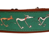 Green Nellie Doodles  Martingale Collar-