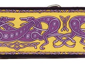 Jane Walker's Celtic- Yellow and Purple Martingale Collar