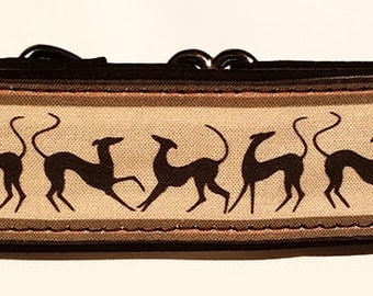 """Happy Hounds in Tan  1.5""""  Martingale Collar-"""