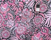 Dena Designs PWDF200 Chinoiserie Chic Pagoda Flower Black Fabric By The Yard