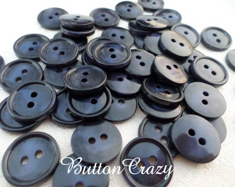25 Vintage Navy Blue Buttons