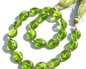 55% OFF SALE 1/2 Strand 10 Pcs 5 Pair AAA Peridot Quartz Faceted Oval Briolettes 10x8mm Oval Beads High Quality Great Price