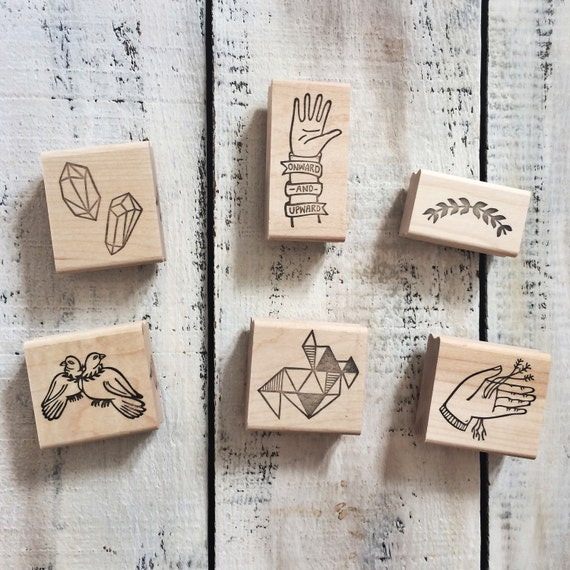 Full line of rubber stamps by brown pigeon and tusk