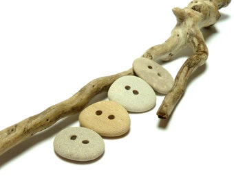 Stone Buttons Beach SEW NEUTRAL Stones Accent Pebbles River Rock Bottom Natural Sewing Craft Crochet Jewelry Mix
