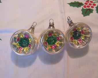 lovely stenciled glass christmas bulbs