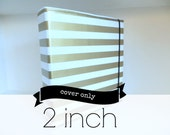 "2 inch oilcloth binder cover // 2"" 3 ring home organization planner recipe binder three ring portfolio / gold chevron floral stripe dot"
