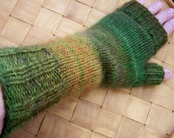 Fingerless Gauntlet Wrist Warmers in Lovely Blended Colors