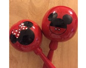 Maracas Mickey Mouse Minnie Mouse Personalized (10 pieces) hand painted and customized with a message or name