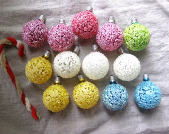 Vintage Lot of Ice, Snow Ball Christmas Tree Lights (13)