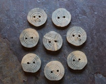Blue Lodgepole Pine Tree Branch Buttons (set of 8)