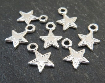 Sterling Silver Star Charm 9.5mm (CG5607)