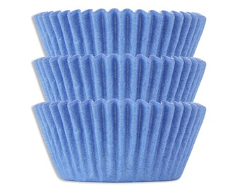 Solid Light Blue Baking Cups - 50 paper cupcake liners