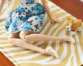 Zebra Animal Print Area Rug for Blythe Momoko Pullip Barbie Fashion Royalty Doll House