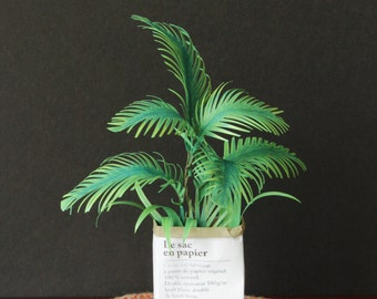 Handmade Palm Leaved Plant for 1:6 Scale Blythe Momoko Pullip Barbie Fashion Royalty Doll House