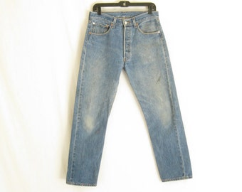 RESERVED...Vintage LEVIS 501 Straight Leg Grunge Jeans.  Size 32 x 33