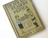 Vintage 1915 New Sloan Readers Primer Hard Cover Child's School Book, Primer,  Illustrations & Lessons, Stories, Vintage  Child's Book
