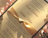 Custom layered invitations for Stephanie M.