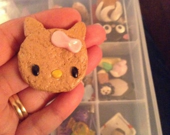 Hello Kitty polymer Clay Biscut