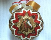 Horse Quilted Christmas Ornament