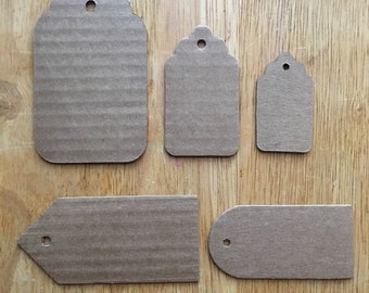 10 upcycled cardboard gift tags, eco friendly packaging, price tags, recycled cardboard, shop supply, branding supply, labels