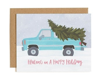 Hauling Truck Holiday Boxed Set of 8