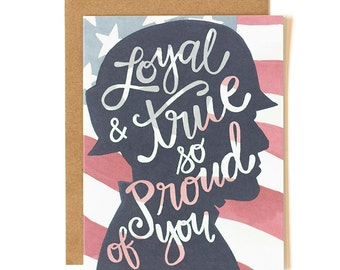 Loyal & True So Proud of You Illustrated Card // 1canoe2