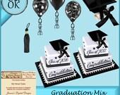 CU Graduation Scrapbook Elements - Clipart