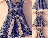 Reversible wrap dress (Emily)