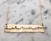 skyline necklace bronze