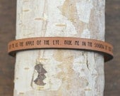 psalm 17:6-8 - adjustable leather bracelet  (additional colors available)