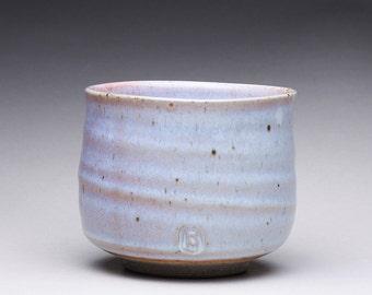 handmade matcha chawan, ceramic tea bowl, small pottery bowl with white ash glazes