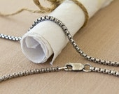 """Gold-filled 2.5mm Rounded Box Chain in 24"""" length"""