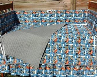 Custom BATMAN crib bedding set