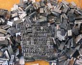Antique Vintage Lead Letterpress Letters Numbers Vintage Lead Letterpress Lot 13 Pounds