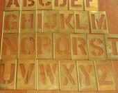 Vintage Brass Stencils Alphabet Stencils Brass Letter Stencils Number Stencils Punctuation Stencils