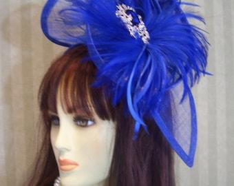Royal Kentucky Derby Fascinator Hat Wedding Hat Preakness Fascinator Ascot Hat Derby Easter