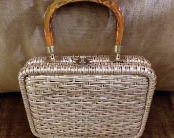 Vintage Stylecraft Wicker Bag Miami