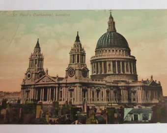Vintage Post Card St. Pauls Cathedral London 1909