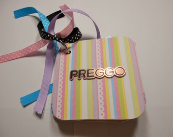 Pregnant Mini Album, Pregnant Scrapbook, Premade Album, Pregnant Photo Album, Pregnant, Expecting Mini Album, Chipboard Album