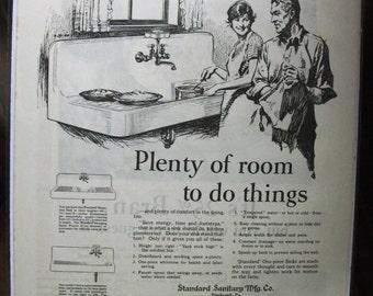 """House - 120    """"Standard Plumbing Fixtures""""   - March 1926"""