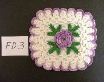 Vintage Hand-Made Colorful Doily  Stock #FD-3