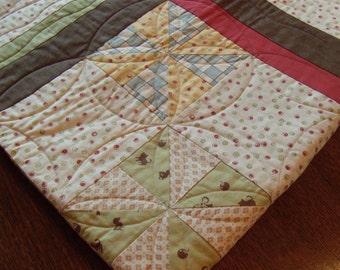 "New. Adorable. All Cotton. Handmade. Baby Quilt. 40""x40"""