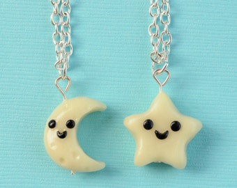 SALE! Best Friend Moon and Star Necklaces